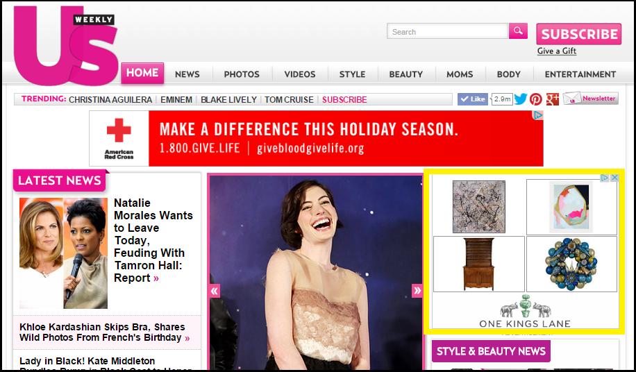 Пример за динамична Дисплей Реклама в Google портньорската мрежата